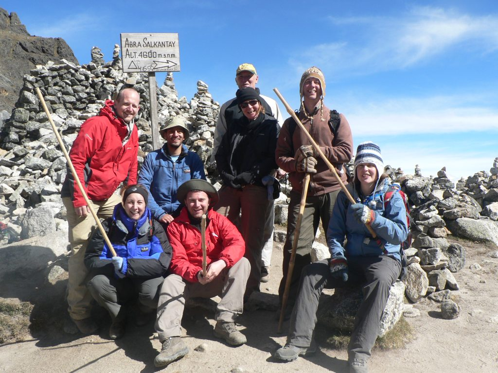 The Team Trekking in Peru