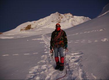 Descending Huayna Potosi Bolivia