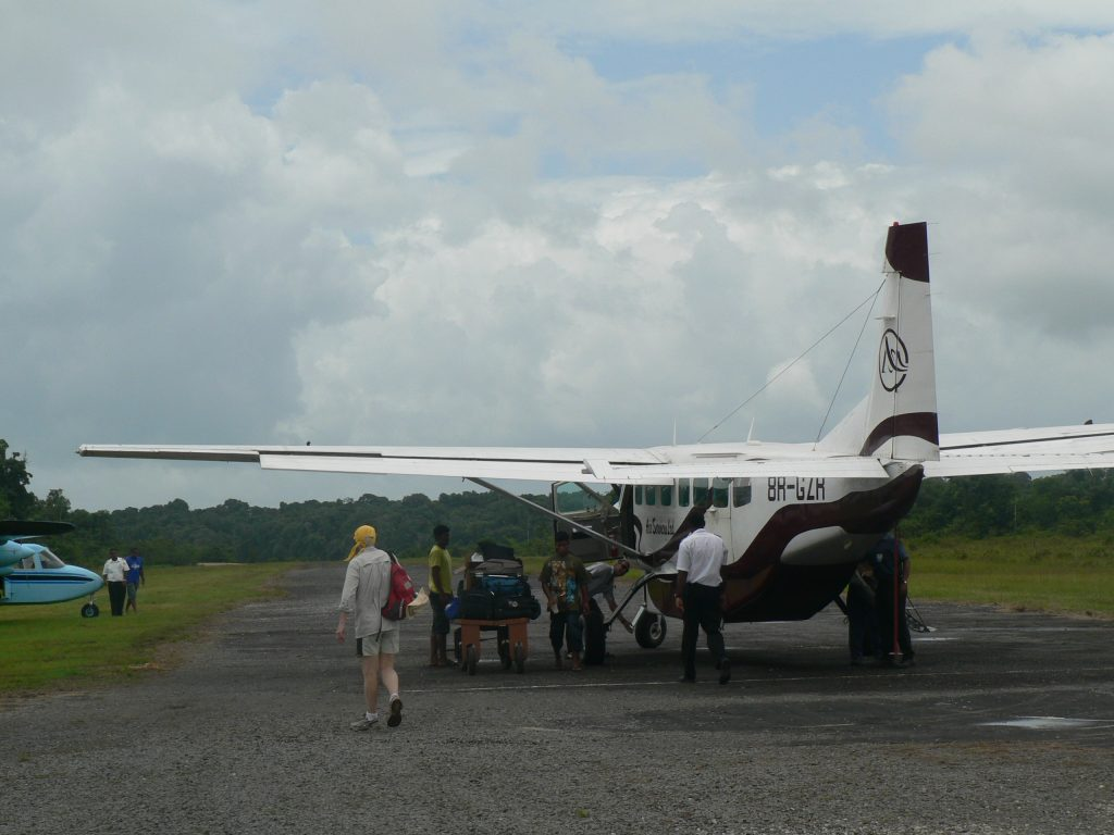 Flying in Guyana