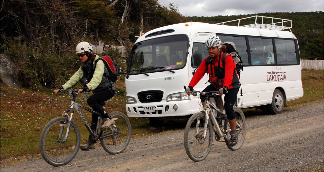 Lakutaia Cyclists Patagonia Chile