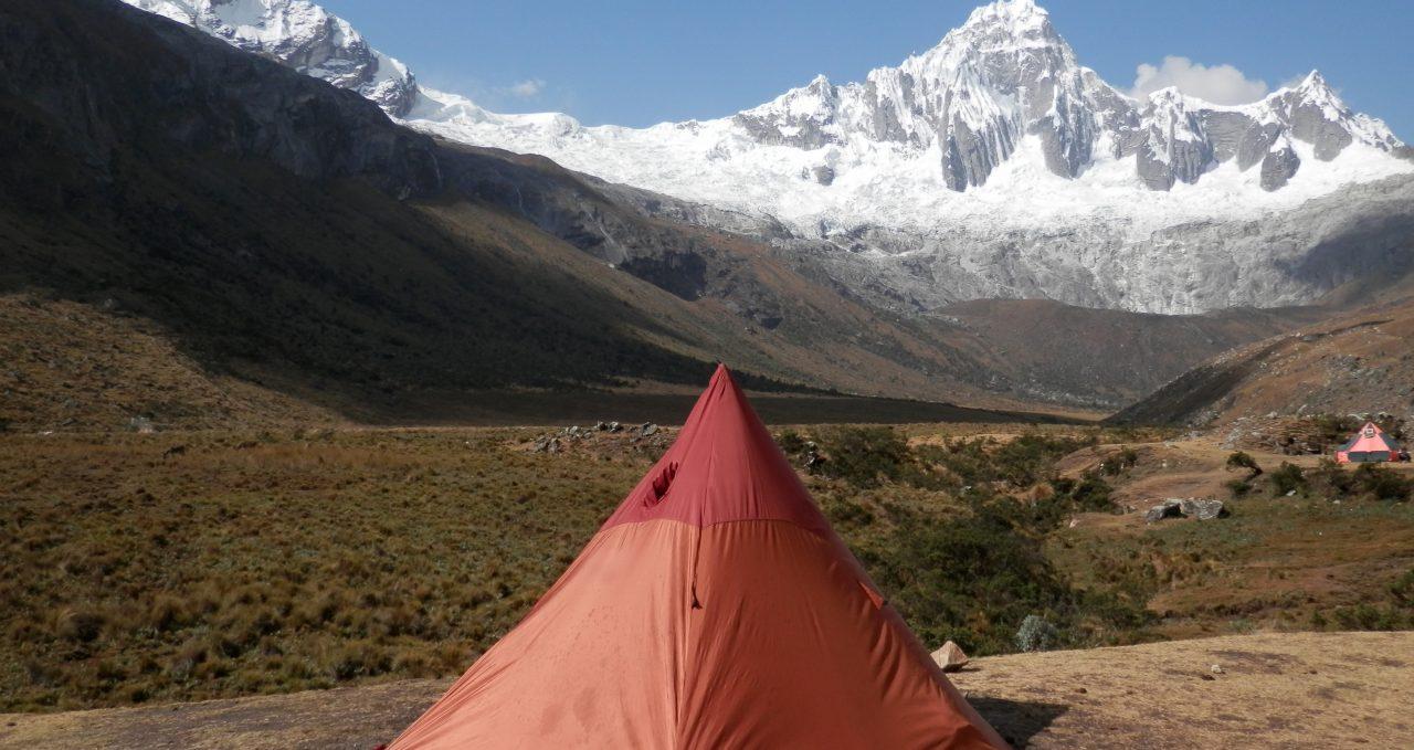Santa Cruz trek camp Peru