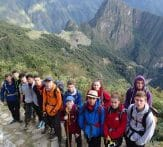 School group tour, Peru