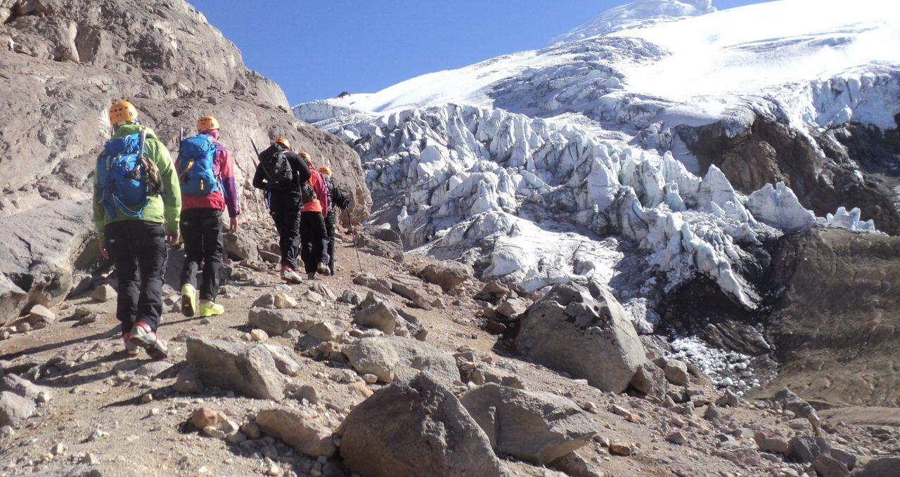 Glacier on Cayambe, Ecuador