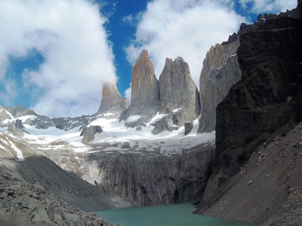 The base of the towers of Paine, Patagonia Chile