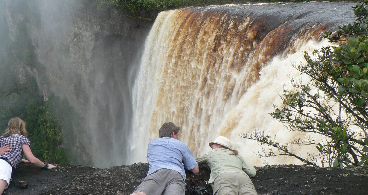 Watching the water fall, Kaieteur Falls, Guyana