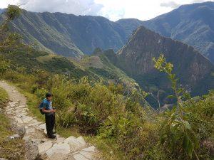 The view from the Sun Gate, Inca Trail, Machu Picchu